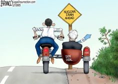 Iran Side Deals. The deal with Iran make the entire world less safe,especially Israel.~Cartoon by A.F. Branco 2015