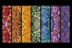 Vibrant Rainbow Graffiti 8 x 12 Color Fine Art Print. $25.00, via Etsy.