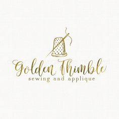 thimble logo design sewing logo design by stylemesweetdesign