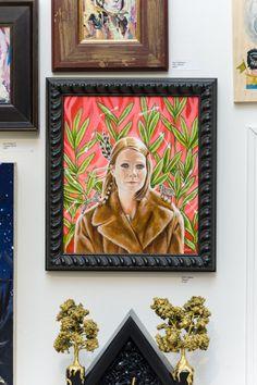 "Edith LeBeau - ""Margot"" (inspired by the film, The Royal Tenenbaums)   acrylic on canvas   11"" x 14"" (framed)   SpokeArt"