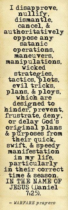 .powerful prayer Spiritual Inspiration, Powerful Prayers, Deliverance Prayers, Prayer Prayer, Prayer Scriptures, Prayer Board, Power Of Prayer, Prayer Room, Bible Verses