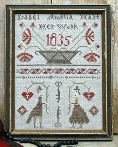 Simple Folk Cross-Stitch Patterns
