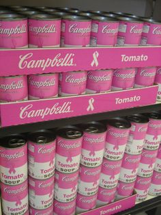 Packaging Pick of the Day 10-11-12  Power of Pink - Campells's Soup Cans