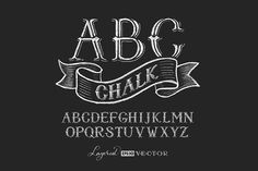 Chalk Alphabet by polygraphus on @creativemarket