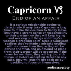 Zodiac Society — Capricorn and the end of an affair. Zodiac Capricorn, Zodiac Signs Capricorn, Capricorn And Aquarius, Sagittarius Facts, Zodiac Facts, Capricorn Lover, Capricorn Female, Aries Man, Capricorn Season