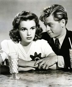 Judy Garland and Mickey Rooney. She was so beautiful -- Huge eyes, full lips, and everything about her. Yeah, Hollywood studios, I completely understand why you thought she wasn't attractive enough. Tragic. And let's not even start on how her talent alone should have sufficed anyway.