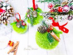 Купить Набор новогодних шаров - шар на елку, шар новогодний, шар елочный, шар из пенопласта