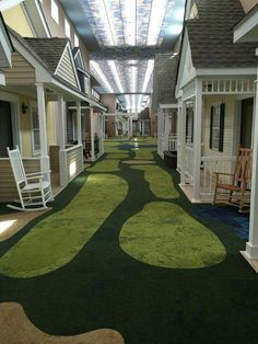 """How cute is this assisted living community in Ashtabula Ohio❓ It has Fiber optic ceilings that go from day to night and the outside of every room resembles a house. There's a golf course and movie theater and """"memory rooms"""" where each room resembles the 30's, 40's, and 50's, including furniture and music from the given time period."""