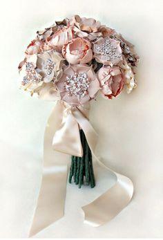 Bouquets de mariée en soie de mariée Emici