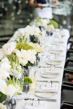 Black, white and green wedding reception www.touchedbyangels.com.au