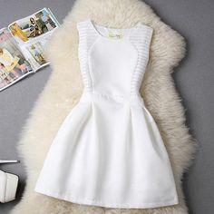 #589 Korean Slim Lace Vest Dress