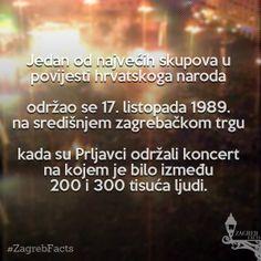 Koncert je, navodno, trebao biti zabranjen, ali se ipak održao. Ruža Hrvatska postala je simbol hrvatskog domoljublja i prva od mnogih modernih budnica u borbi za neovisnost. #ZagrebFacts #TrgBanaJosipaJelacica #TrgBanaJelacica #JelacicPlac #trg #PrljavoKazaliste #Prljavci