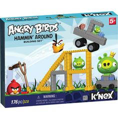 """K'Nex - Angry Birds - Mission May'Ham Building Set - K'Nex - Toys""""R""""Us.Maybe even better than the game! Cleaning Wood Floors, Wood Games, Bird Toys, Christmas Toys, Christmas Ideas, Photo On Wood, Angry Birds, Toy Store, New Toys"""