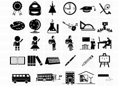 31 Free Vector Photoshop School Icons - 365psd