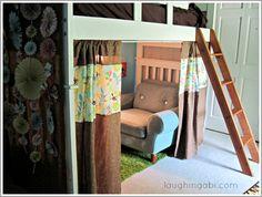 children simple loft bed