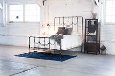 Amelia Bed + Kushinagar Cabinet + Overdyed Rug + Antique Accents.