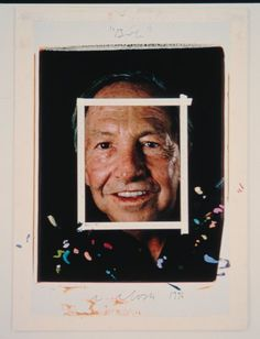 """Chuck Close, """"Bob (Maquette)"""" (1996)   photograph   dye diffusion transfer print with tape, ink, graphite, and paint on foamboard    Source: http://www.sfmoma.org/explore/collection/artwork/104923#ixzz1jCFnLFzN   San Francisco Museum of Modern Art"""