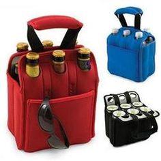 Insulated Bag Drink Beer Water Soda Neoprene Tote Six Pack Bottles Cans Black Club Colombia, Beer Club, Beer Cooler, Home Brewing Beer, Beer Taps, Craft Beer, Beer Bottle, Packing, Soda