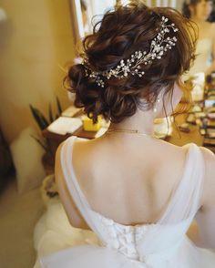 昨日の花嫁さんの1スタイル目✨ * ヘッドアクセサリーはyuudaiの私物です*