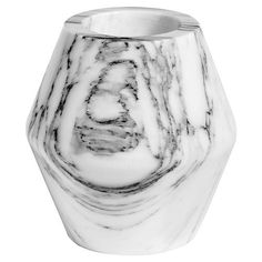 Vincenzo Modern Classic White Marble Vase