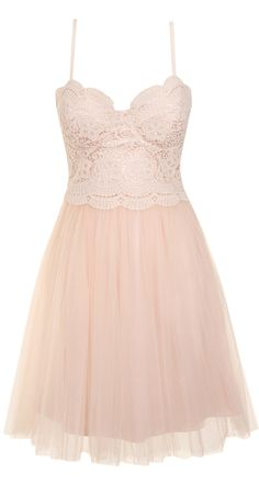 Pink tulle & lace dress
