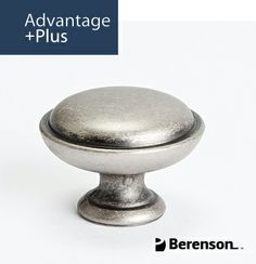 Berenson Advantage Plus 1 Cabinet Hardware: Item No 9337-10WN-P - Cabinet Knob in Weathered Nickel. Questions? Call 1.800.333.0578 or email info@berensonhardware.com