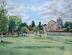 Waltham Abbey in the U.K. Abbey Gardens by KingdomVince