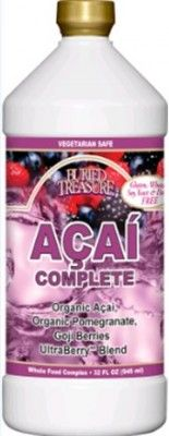 Buried Treasure's #Açaí Complete is a whole fruit complex made from #Organic Açai (Amazonian palmberry), Organic Pomegranate and Himalayan Goji Berries. Açai is a complete food concentrated with #protein, #fiber, #vitamins, #minerals and #antioxidants. Açaí Complete combines the wonder of Açaí Berries with antioxidant rich Pomegranate, energy-producing Goji Berries and UltraBerry Blend with Green Tea for the perfect vitality drink.