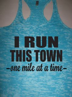 I Run This Town Womens Running Tank Top. Motivational Workout. Running Shirt. Workout Tank Top. Marathon. 5K. 10K. Half Marathon. Athletic