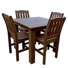 Highwood 5Piece Lehigh Square Counter Height Dining Set 42 by 42Inch Weathered Acorn -- Check out the image by visiting the link.