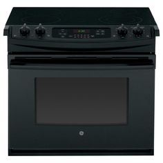 Drop In Electric Range With Self Cleaning Black