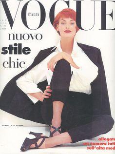 Linda Evangelista, Vogue Italia, September 1991. Photograph by Steven Meisel.