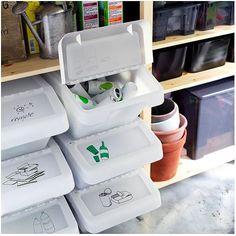 Come sistemare i secchi della raccolta differenziata dentro casa! 20 idee…