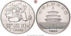 RITTER China, 10 Yuan 1989, Panda, st #coins