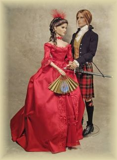 Clare red dress on outlander