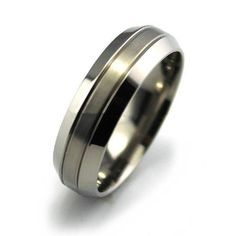 Titanium Wide Edge Matte Ring - Rings Ring to Perfection