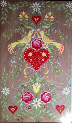 Acrylique sur coffre bois. F.C.