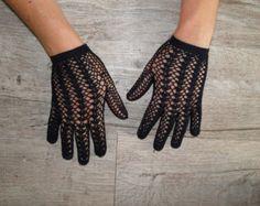 Guantes de encaje de ganchillo estilo por WillowFairyJewelry