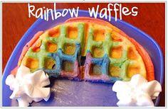 Peppermint Plum: {Rainbow Waffles by a SUPERMOM!}