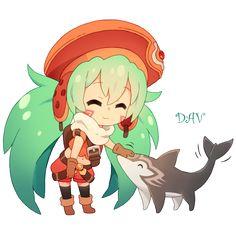 Chibi Sakuya by DAV-19.deviantart.com on @deviantART