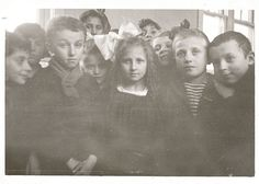 Group of children at Ellis Island 1921