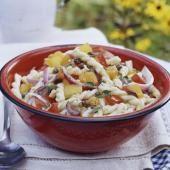 Basil and Tomato Pasta Salad Recipe - use our Grain Berry pasta!