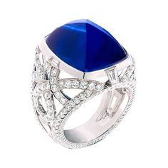 Fabergé cabochon sapphire ring