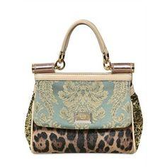 I want this now!!!!!!! Dolce & Gabbana Mini Miss Sicily Top Handle  luisaviaroma.com