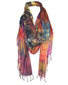 Maisha Collective  Fair Trade Takuma Tie-Dye Cotton Scarf