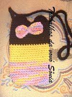 Trabalhos da vovó Sônia: Porta-celular Minnie - várias cores - crochê