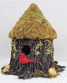Faux Bark Technique using Craft & Hobby PVA Glue by Tracey Sabella - Helmar Design Team
