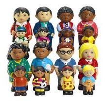 Excellerations® Our Soft Families - Set of All 4 Preschool Block Area, Dolls House Figures, Infant Classroom, Discount School Supply, Social Emotional Development, Victorian Dolls, Family Set, Soft Plastic, Felt Toys