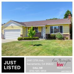 Just listed this cutie in Sacramento! It's a great price at $310,000 for 1623 sqft. Check it out! http://bit.ly/2441_37thAve OPEN HOUSE THIS WEEKEND!