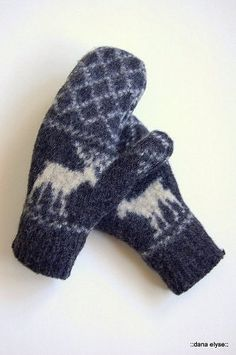 Goodwill Goodness turned Mitten/Hat set (with easy hat tutorial!) - CLOTHING
